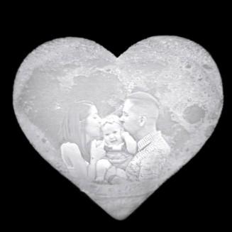 Szív-Holdlámpa Saját...