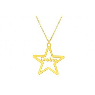 Csillag Név nyaklánc...