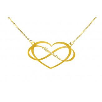Infinity szív Név nyaklánc